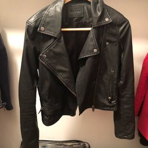 Authentic BLANK NYC Black Leather Jacket
